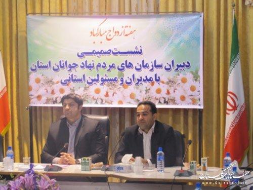 نشست دبیران سازمانهای مردم نهاد جوانان استان با مدیرکل ورزش و جوانان