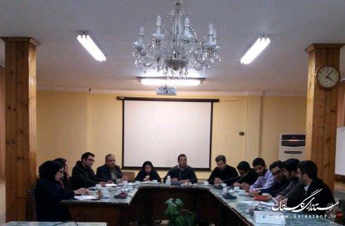 ششمین نشست اتاق فکر حوزه مشاوران جوان فرمانداری کردکوی برگزار شد