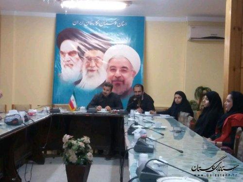 تبادل نظر اعضای کمیته کارآفرینی مشاوران جوان فرمانداری کردکوی برای رونق اشتغال در شهرستان