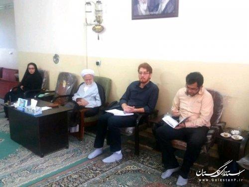 اعضای شورای مشورتی جوانان گنبد کاووس با امام جمعه شهرستان دیدار کردند